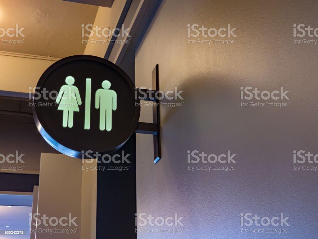 Men/Women restroom sign stock photo