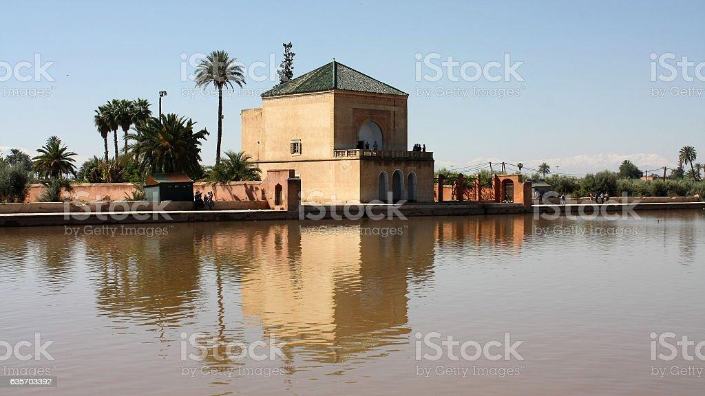 Menzeh,Menara Gardens, Marrakech,Morocco royalty-free stock photo