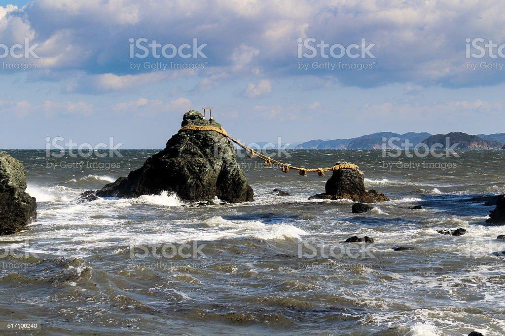 Meoto Iwa Rocks stock photo