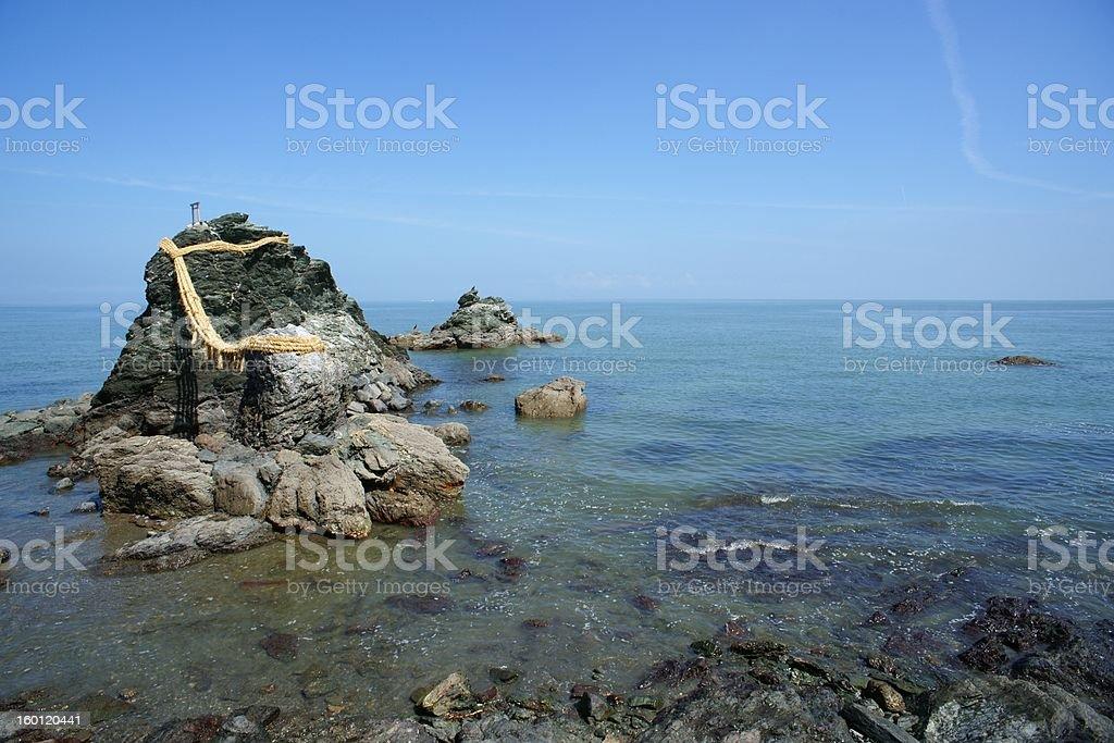 Meotoiwa Rock stock photo