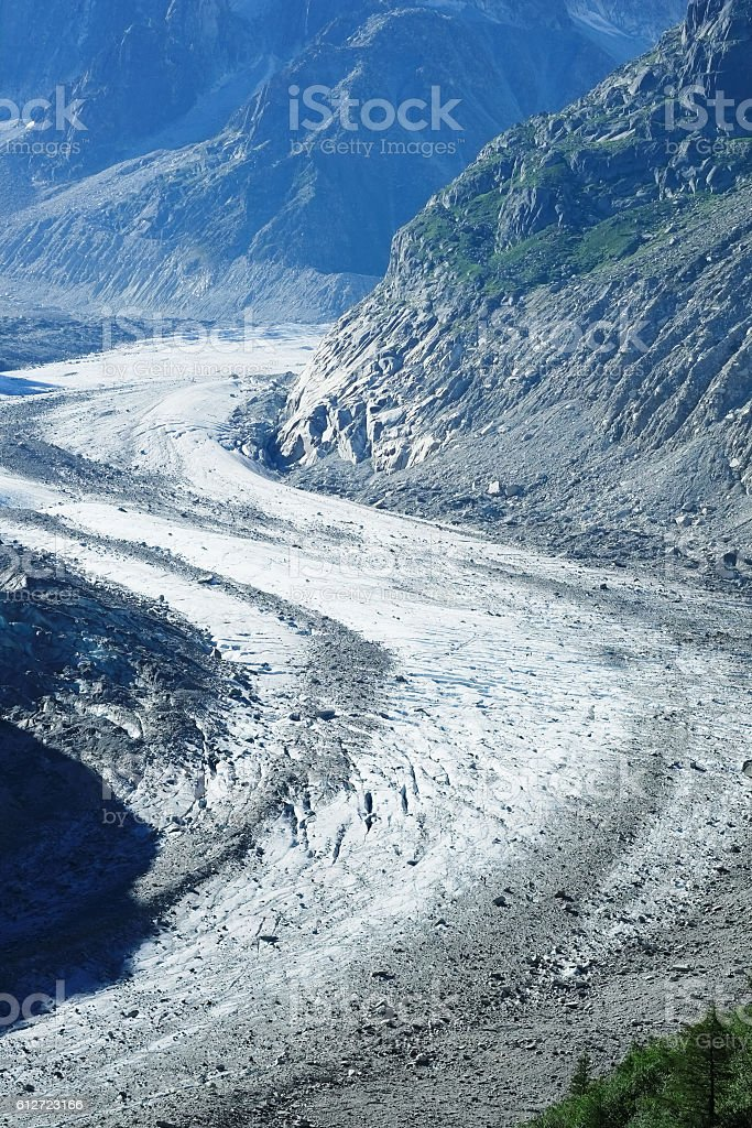 Mer de Glace Glacier stock photo