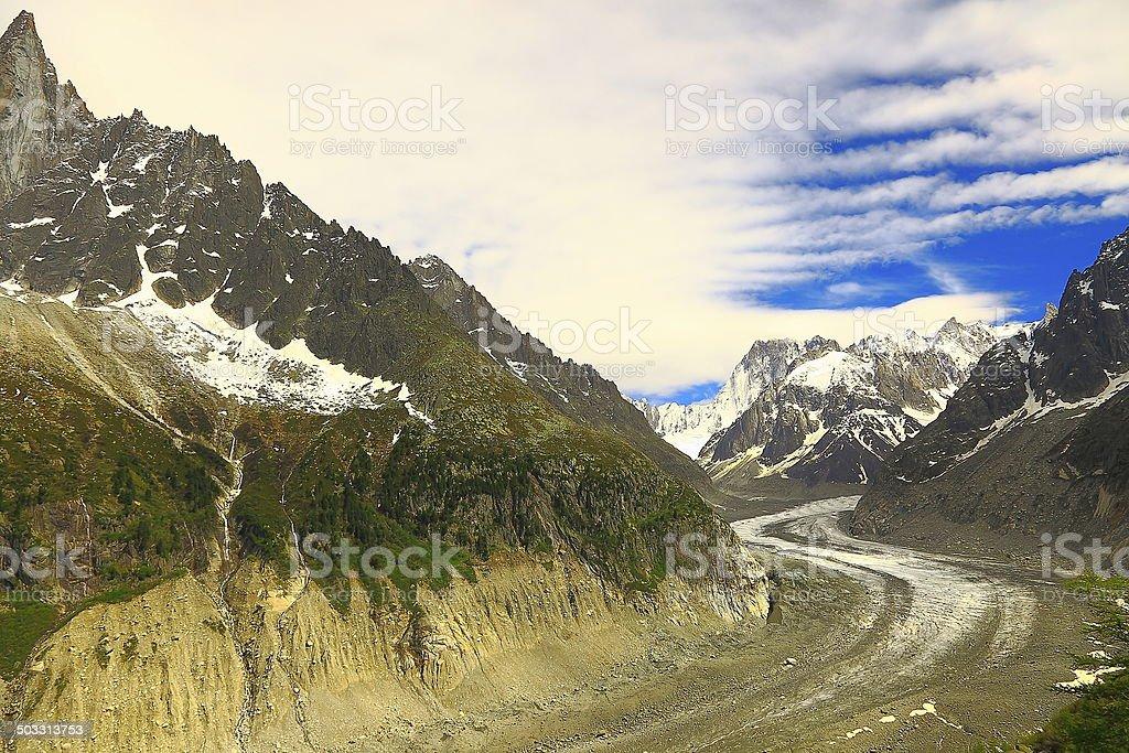 Mer de glace glacier 'Sea of Ice', Chamonix Mont Blanc stock photo