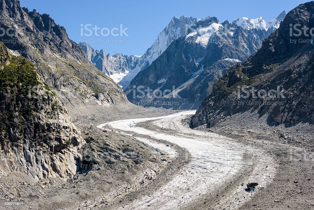 Mer de Glace, Mont Blanc Massif stock photo
