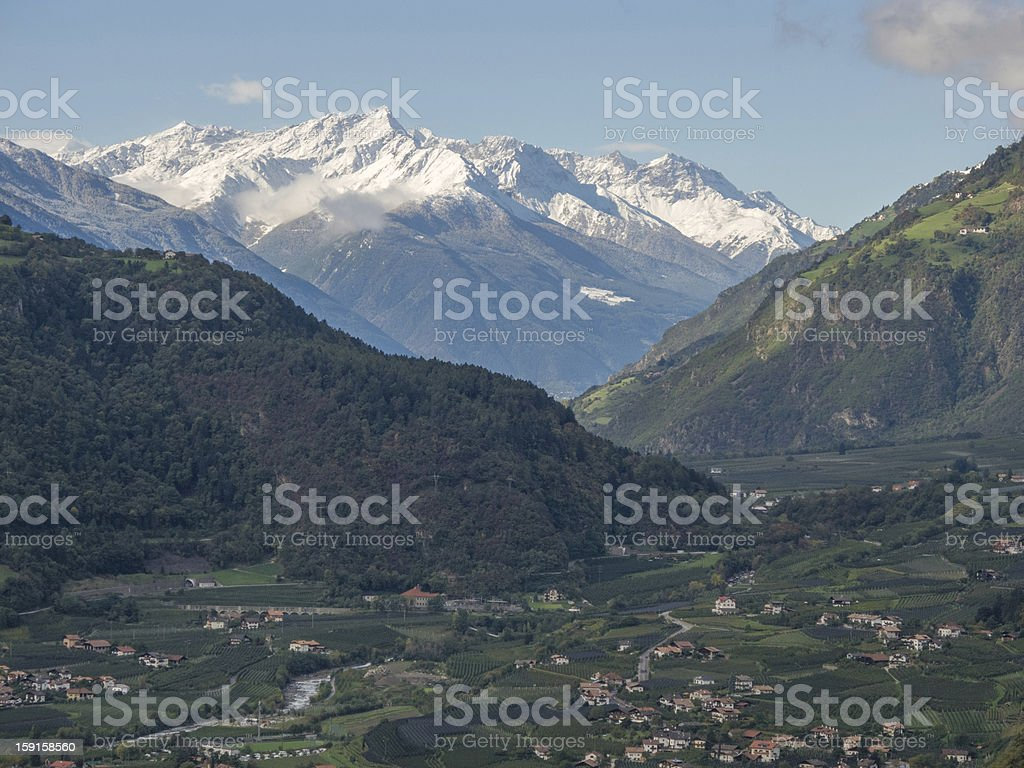 Meran South Tyrol royalty-free stock photo