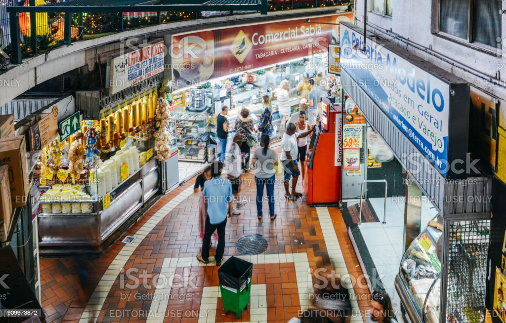 Mercado Central is a lively indoor market in Belo Horizonte, Brazil stock photo
