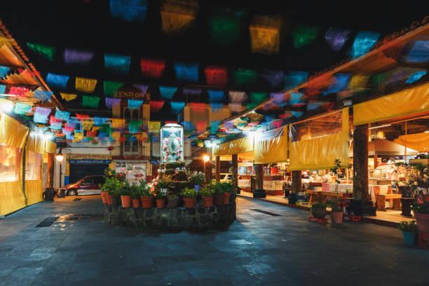 Mercado de Antojitos (mercado de aperitivos) de Uruapan. Michoacán - México. - foto de stock