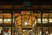 Mercado de San Miguel in Madrid at night