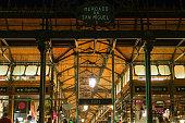 Mercado de San Miguel in Madrid at night