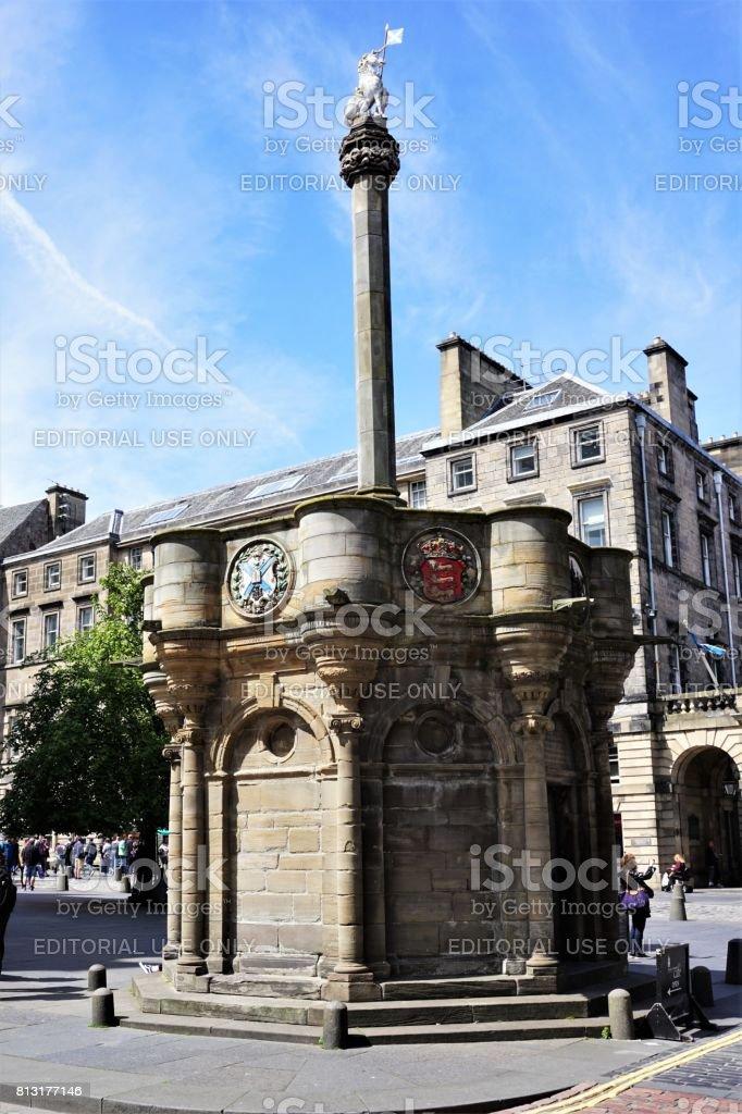 Mercat Cross, Edinburgh stock photo