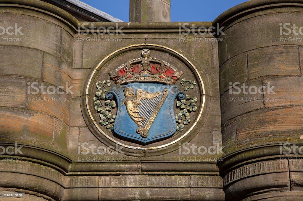 Mercat Cross, Edinburgh, Scotland stock photo