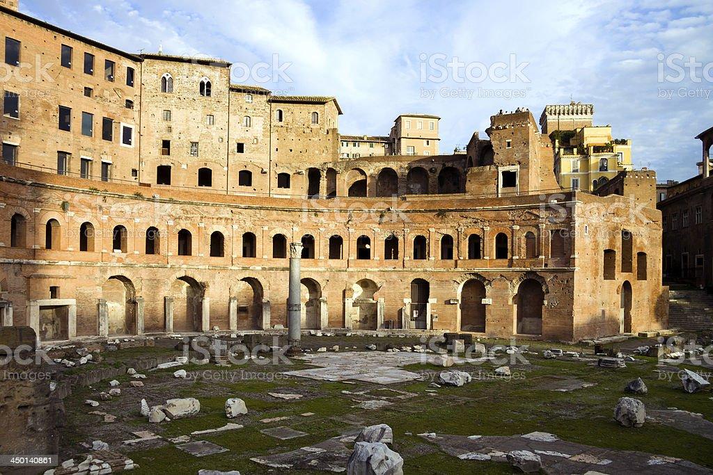 Mercato di Traiano in Rome, Italy royalty-free stock photo