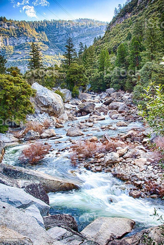 Merced River stock photo