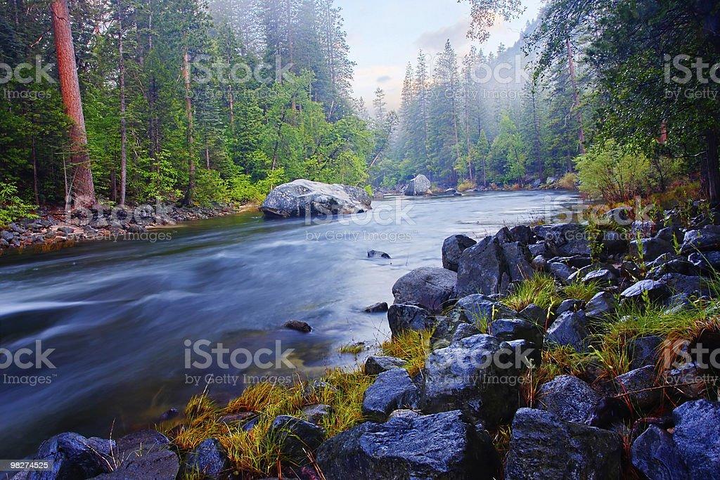 Merced River - Yosemite royalty-free stock photo