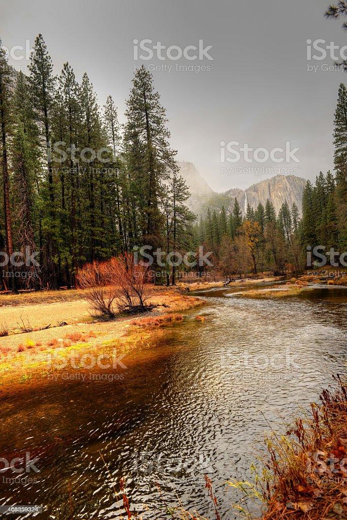 Merced River Yosemite Valley royalty-free stock photo