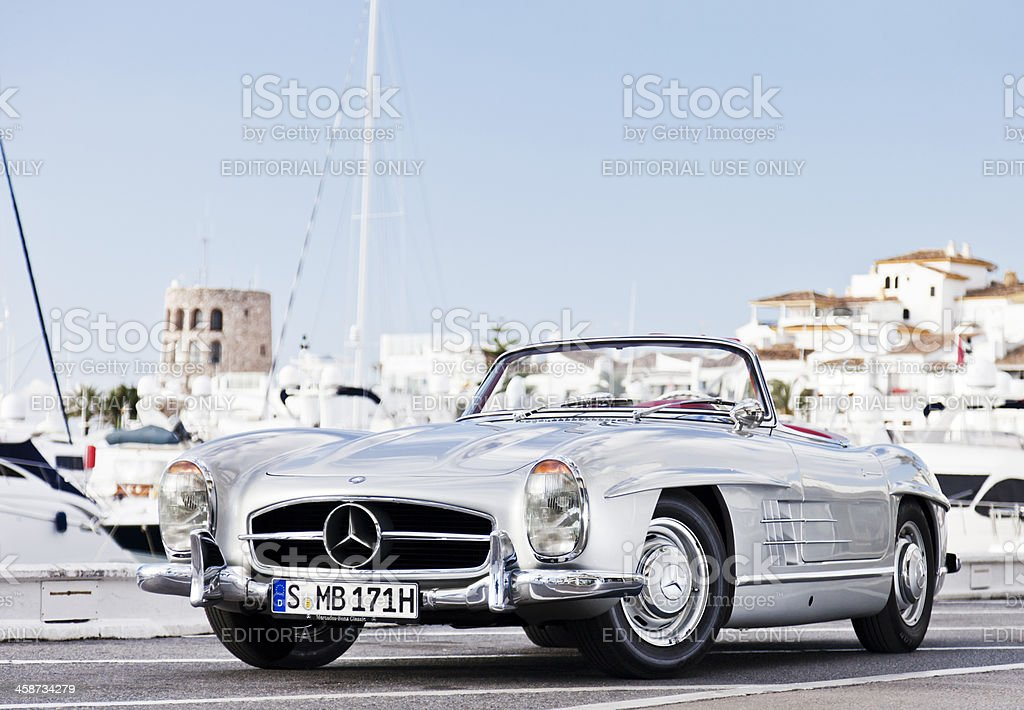 Mercedes 300 SL Roadster front stock photo