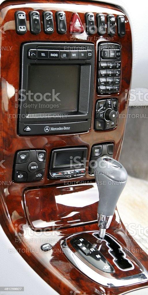 Mercedes automatic transmission stock photo