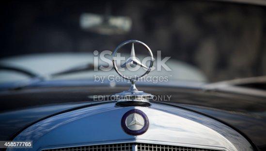 istock Mercedes badge 458577765