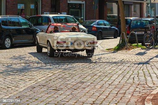 DUESELDORF,NRW, Germany - APRIL 02, 2017: Mercedes BENZ 230 SL classic car on a city tour near Duesseldorf