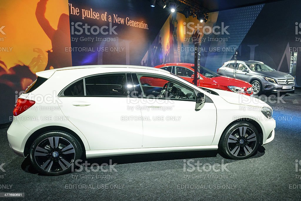 Mercedes Benz A-Class royalty-free stock photo