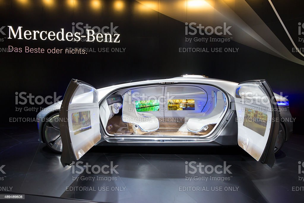 Mercedes Benz autonomous concept car stock photo