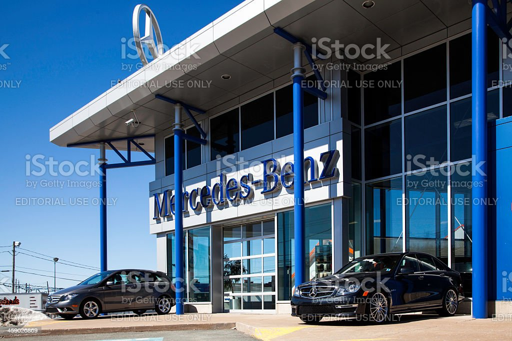 Mercedes Benz Car Dealership stock photo