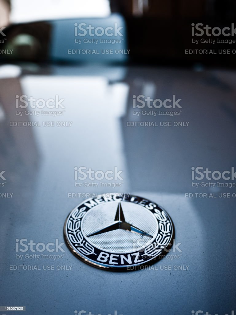 Mercedes Benz Car Logo stock photo