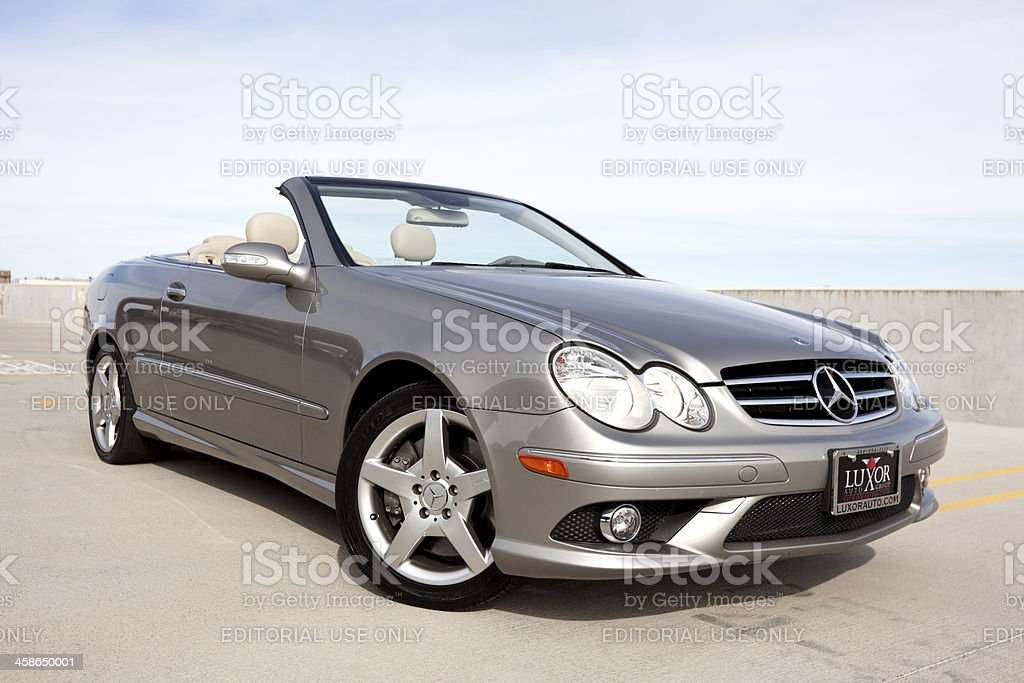 Mercedes Benz CLK500 2006 stock photo