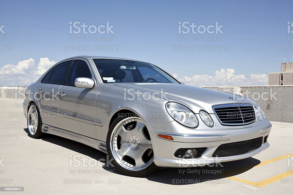 Mercedes Benz E 55 AMG 2004 stock photo