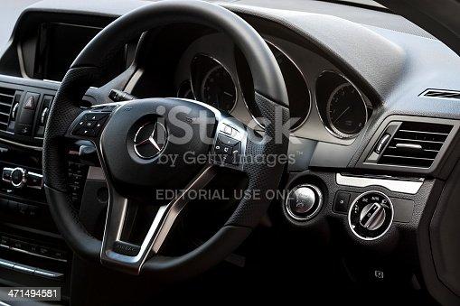 istock Mercedes Benz E200 interior 471494581
