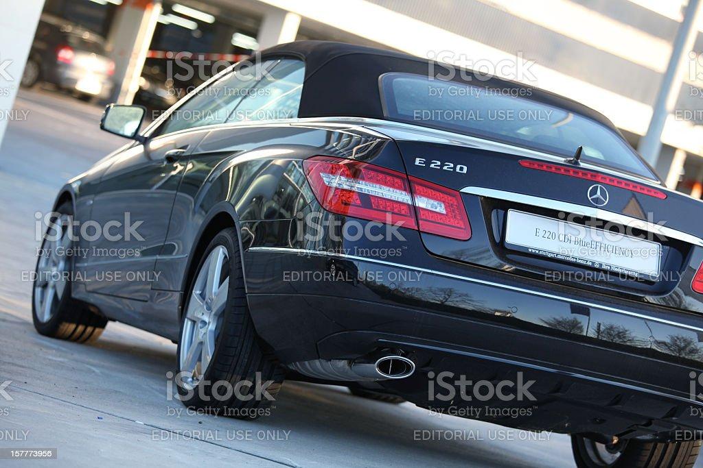 Mercedes Benz E220 CDI Convertible BlueEfficiency limousine royalty-free stock photo