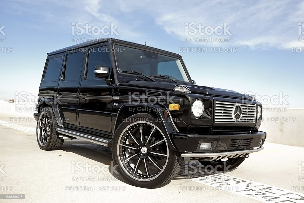 Mercedes Benz G500. Scottsdale, United States - November 29, 2011: A photo of a Mercedes Benz G500, the G wagon is a off road vehicle from Mercedes. Most people drive it on the street as a luxury vehicle. Car Stock Photo