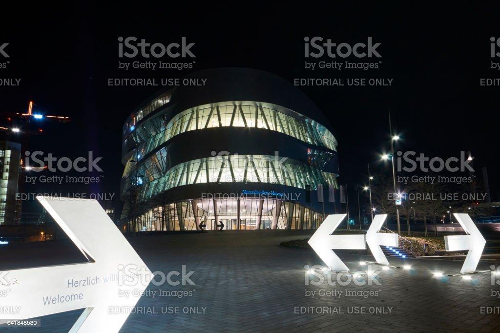 Mercedes Benz Museum Stuttgart stock photo