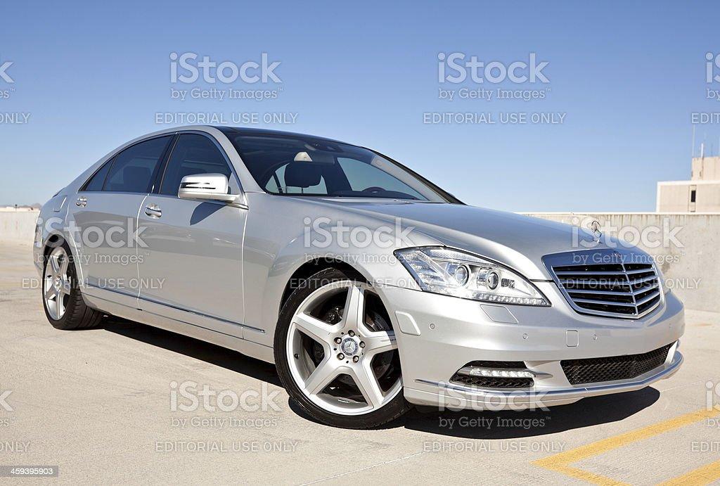 Mercedes Benz S550 2010 stock photo