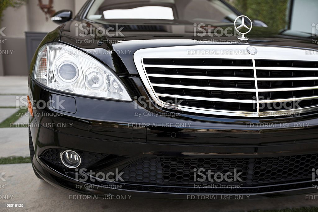 Mercedes Benz S550 stock photo
