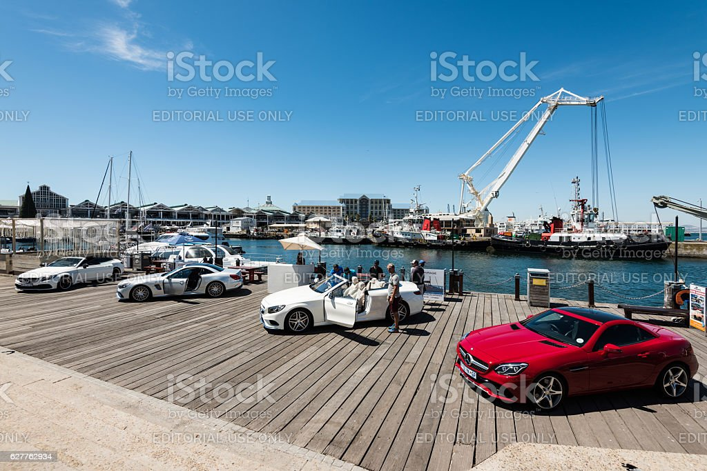 Mercedes Benz showcasing its cars on the V&A Waterfront stock photo