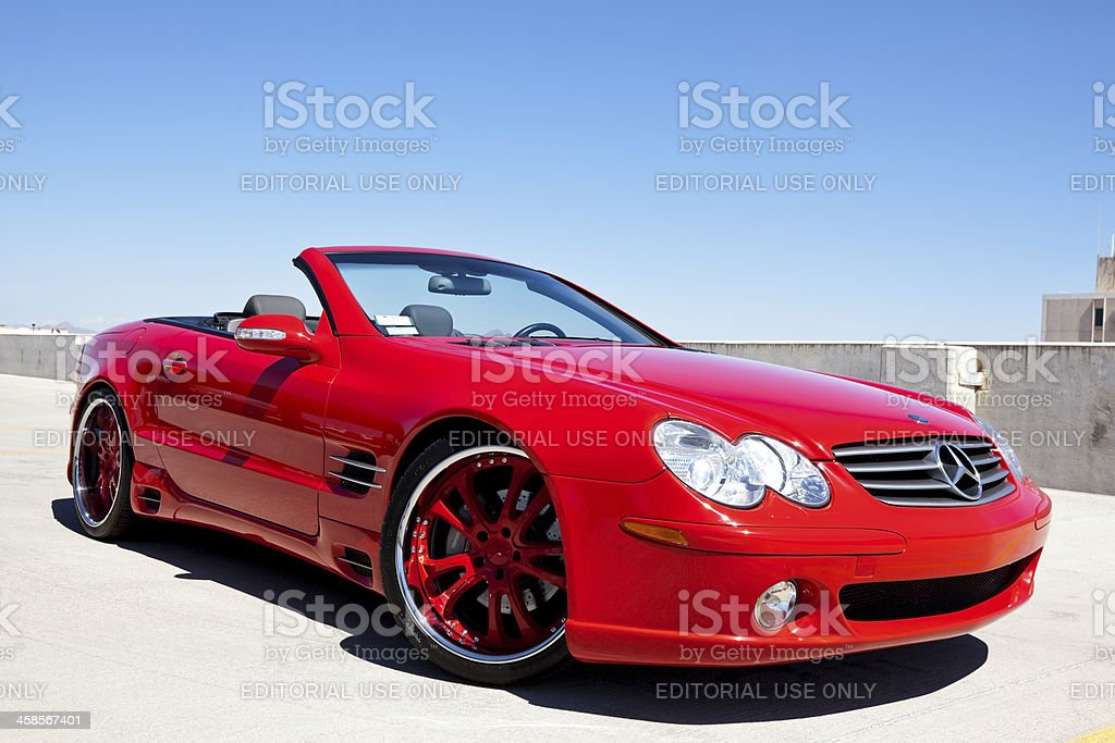 Mercedes Benz SL500 stock photo