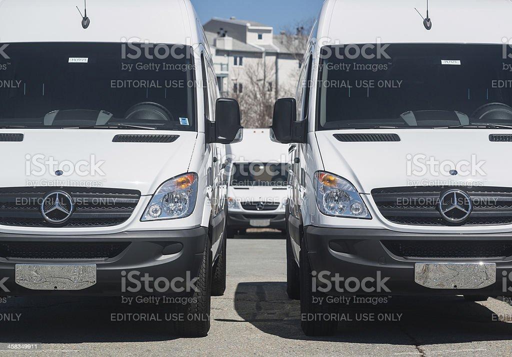 Mercedes Benz Sprinter Vans royalty-free stock photo