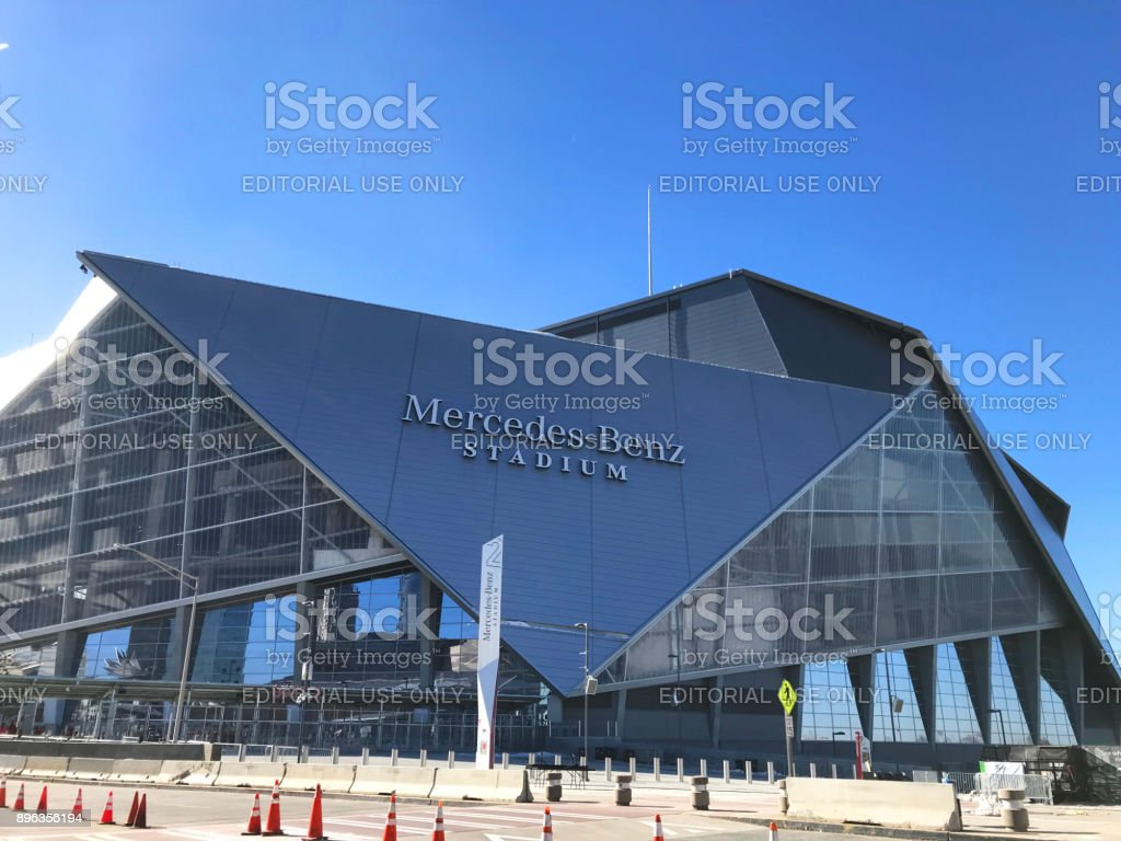 Mercedes Benz Stadium in downtown Atlanta stock photo