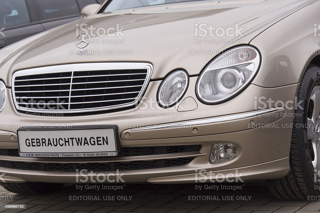 Mercedes Benz Used car stock photo