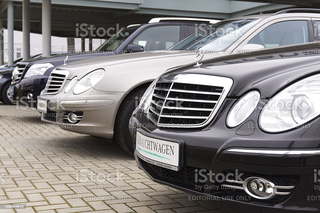 Mercedes Benz Used cars stock photo