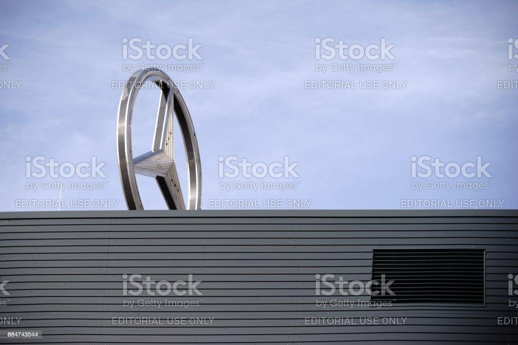 Mercedes car dealer Mainz stock photo