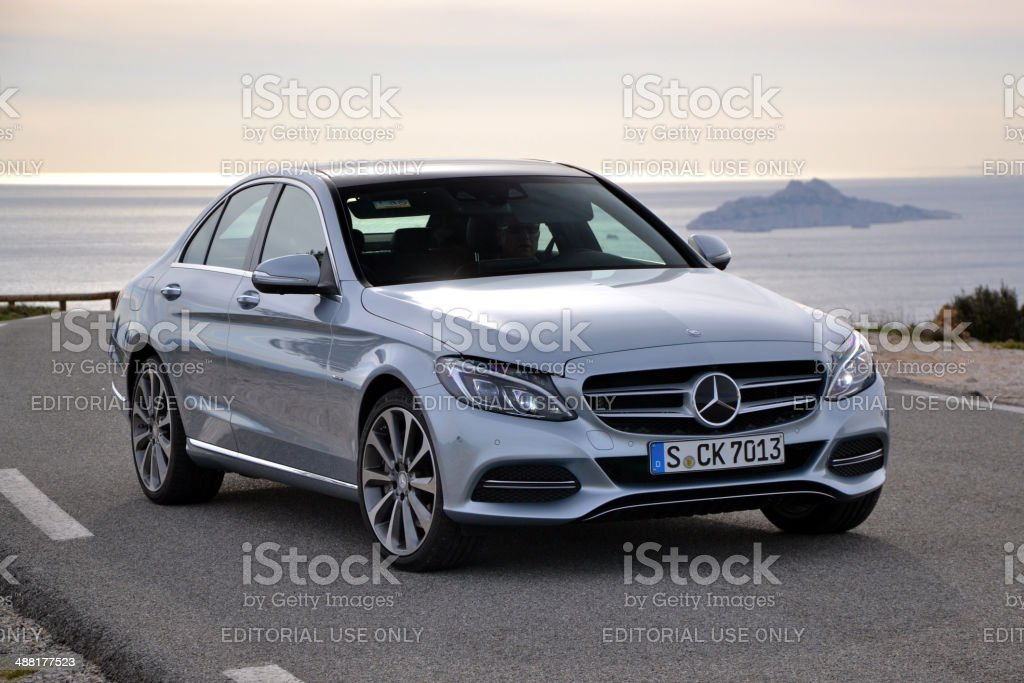 Mercedes C-Class on the international press launch stock photo
