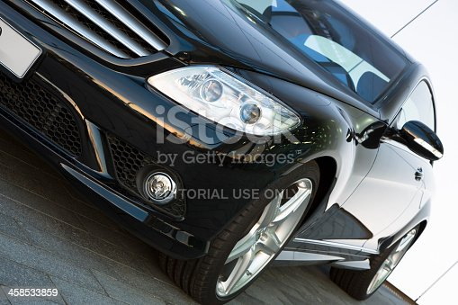 istock Mercedes CL 500 luxury sports car front side angled view 458533859