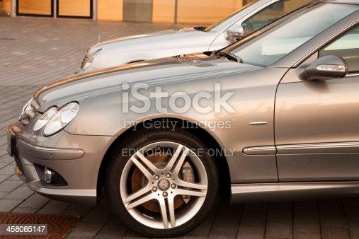 istock Mercedes CLK 200 CDI Grand Edition at a car dealership 458065147