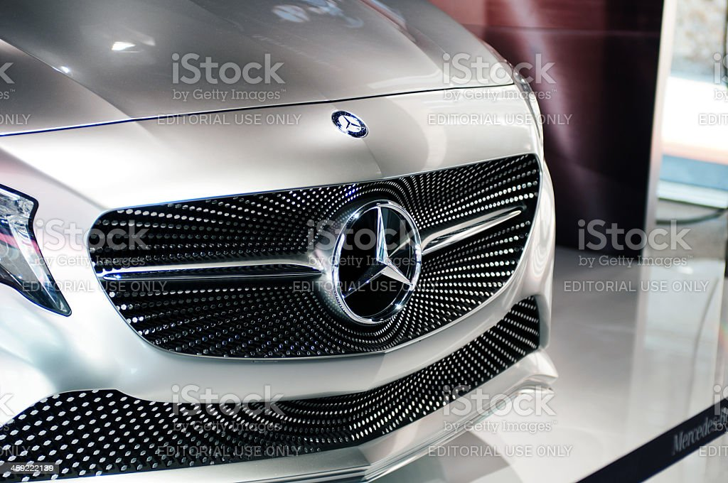 Mercedes Concept A-Class front view stock photo