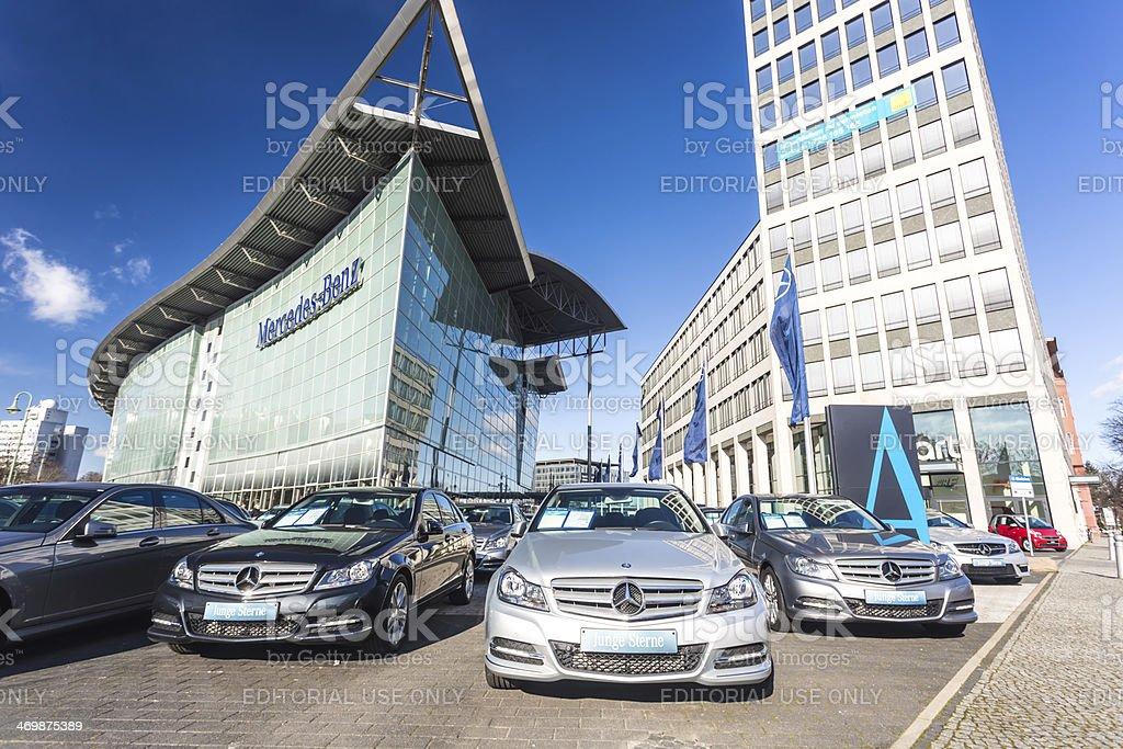 Mercedes Dealership in Berlin stock photo