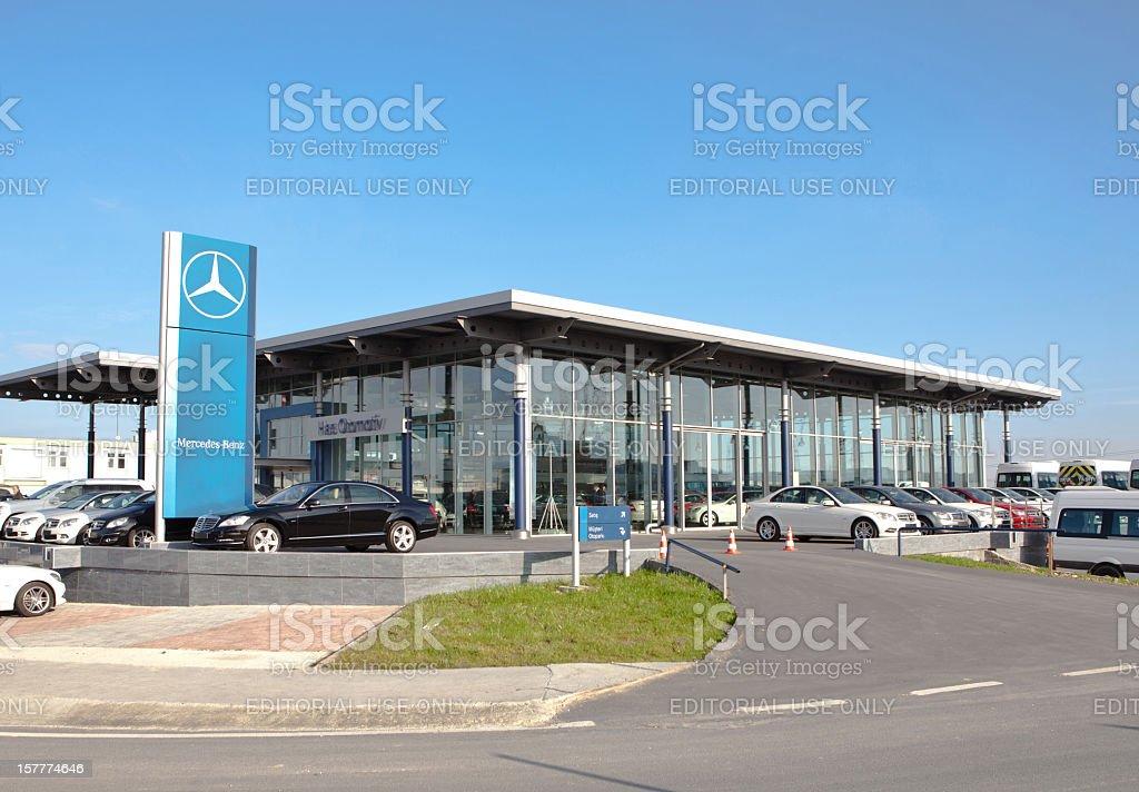 Mercedes Dealership stock photo