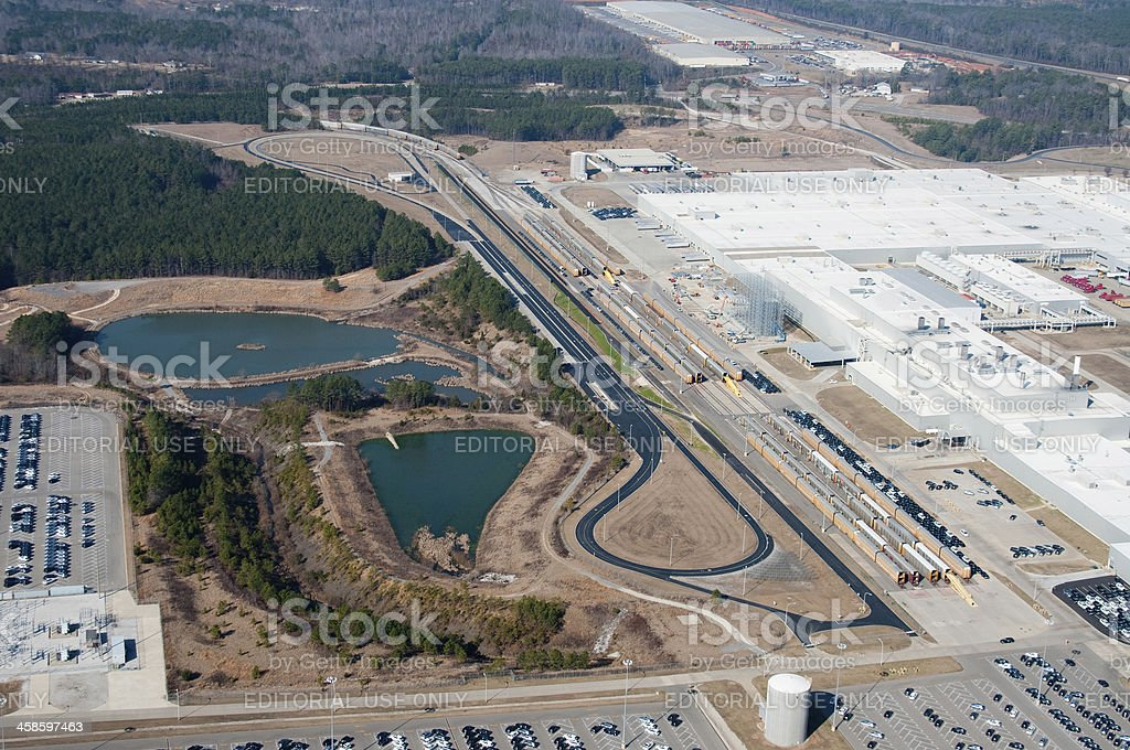 Mercedes Factory and Test Track stock photo