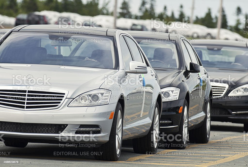 Mercedes S Class Sedans royalty-free stock photo