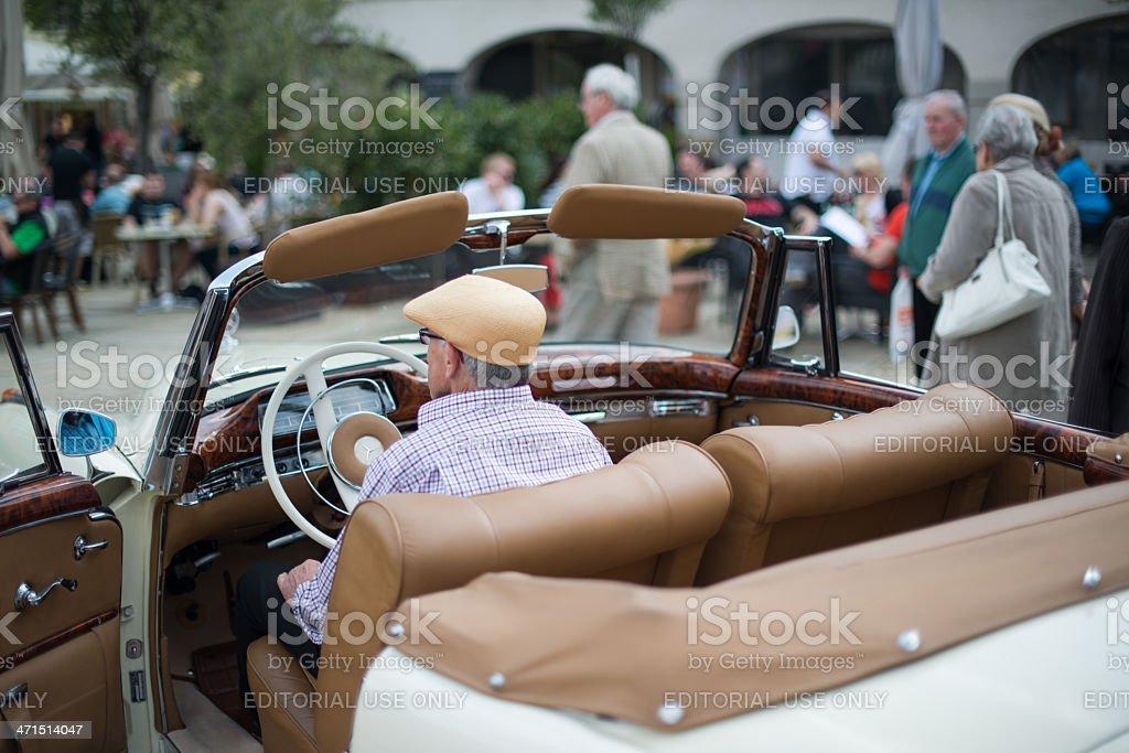 Mercedes SE 220 classic car stock photo